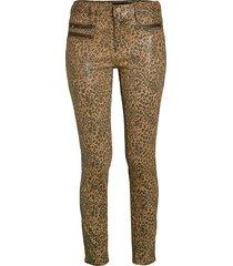 etienne marcel women's leopard skinny jeans - camel tan - size 26 (2-4)
