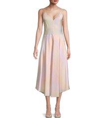 vince women's rainbow wash slip dress - size xl