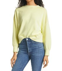 rails alice cotton blend sweatshirt, size small in limon at nordstrom