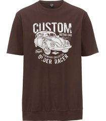 t-shirt men plus donkerbruin::wit