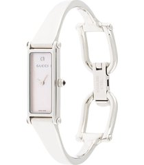 gucci pre-owned pre-owned harness quartz 15mm - silver