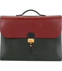 hermès pre-owned sac a depeche 41 business handbag - red