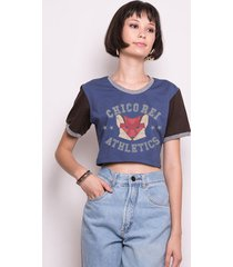 camiseta cropped college fox