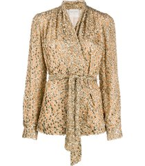 forte forte waist-tied fitted jacket - neutrals