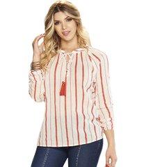 blusa leticia coral  para mujer croydon