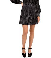 kate spade new york women's wavy-print mini skirt - black - size 8