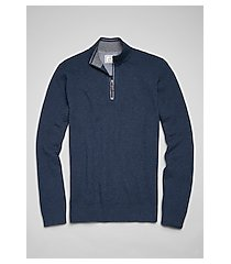 1905 collection textured cotton blend quarter zip men's sweater
