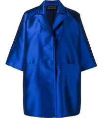 gianluca capannolo oversized wide sleeves coat - blue