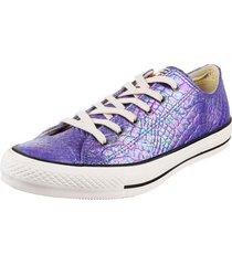 zapatilla violeta converse chuck taylor all star iridiscent snake