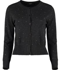 weekend max mara vespa embellished wool and cashmere cardigan
