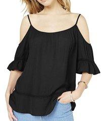 blouse cold shoulder scoop