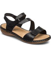 659c7-00 shoes summer shoes flat sandals svart rieker