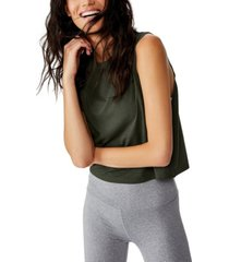 cotton on cropped active muscle tank top