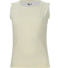 top a rayas color amarillo, talla m