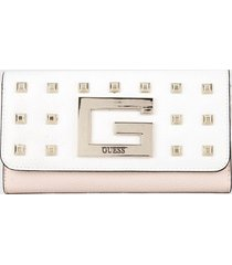 billetera blanco-rosa guess