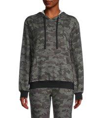 lea & viola women's camo hoodie - grey camo - size s