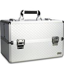 maleta de maquiagem rubys grande alumínio profissional prata