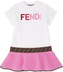 fendi embroidered cotton mini dress