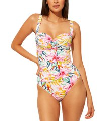 bleu by rod beattie beachy keen shirred underwire one-piece swimsuit women's swimsuit