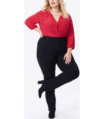 nydj women's plus size marilyn straight ponte pants