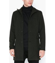 selected homme slhmosto wool coat b noos jackor mörk grön