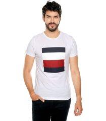 camiseta blanca-azul-roja tommy hilfiger