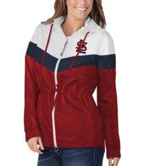 g-iii sports st. louis cardinals women's stadium lightweight jacket