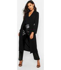 longline belted kimono, black