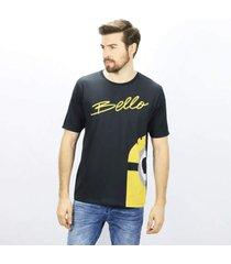 camiseta masculina minions bello emporio alex malha preto
