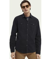 scotch & soda button-down organic cotton western shirt