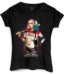 camiseta dc comics bandup! esquadrão suicida harley quinn bubble gum