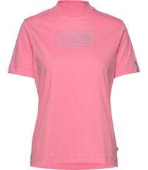 after dark mock tee t-shirts & tops short-sleeved rosa vans