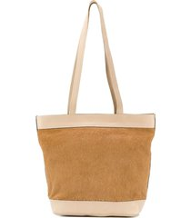 a.n.g.e.l.o. vintage cult 1990's panelled tote - neutrals