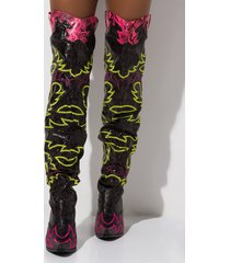 akira cape robbin rockstar western over the knee boots