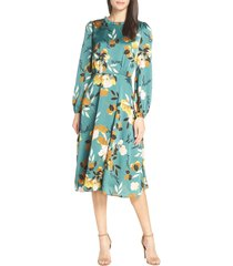 women's chelsea28 floral print long sleeve ruffle neck dress