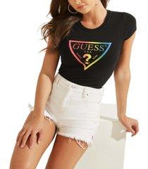 guess pride triangle logo t-shirt