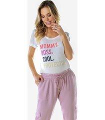 blusa megadose moda gestante t- shirt estampado