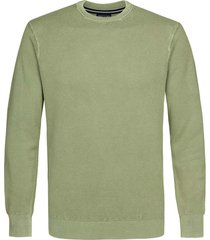 profuomo pullover groen regular fit ppsj1a0052/z