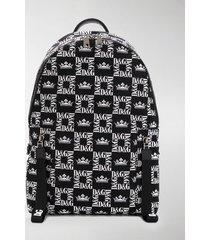 dolce & gabbana all-over logo backpack