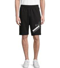 puma men's big logo shorts - black - size xxl