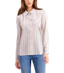 tommy hilfiger striped roll-tab shirt