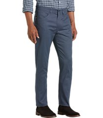 joseph abboud gray blue textured pattern modern fit casual pants