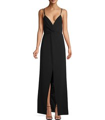 aiden plunging v-neck gown