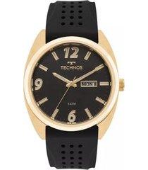 relógio masculino technos 2305at/8p silicone