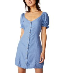 cotton on woven aurora short sleeve mini dress