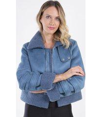 chaqueta gamuza diadora azul night concept