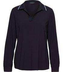 polo blouse blus långärmad blå marc o'polo
