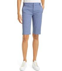 women's vince bermuda shorts, size 10 - blue