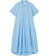 tulip short-sleeve shirt dress, blue