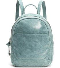 frye medium melissa calfskin leather backpack - blue